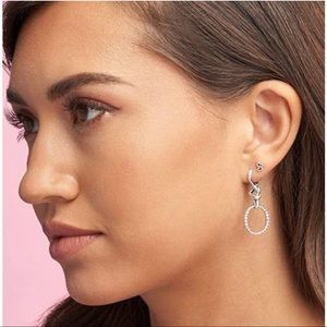 Pandora knotted heart dangle earrings